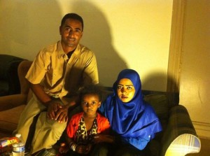 Saleh, with wife Jima and daughter, Fatuma.