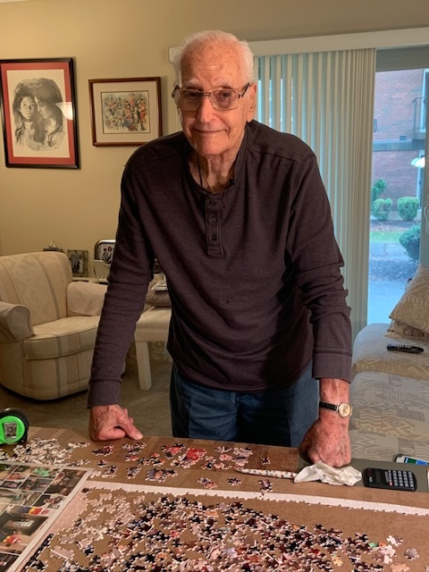 Paul's Run Resident Creates a Puzzle of Staff Members to Show His Appreciation for Their Compassionate Care